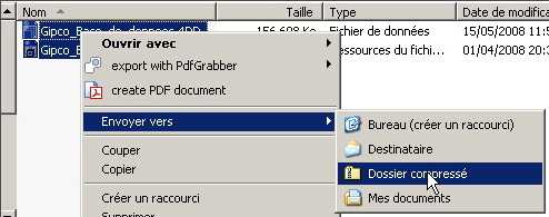 archiver manuellement votre base GIPCO