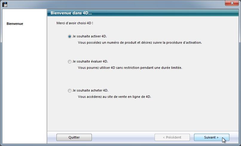 Gipco serveur, installer les licences 4D